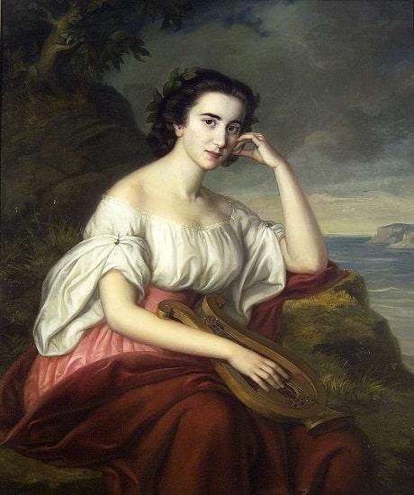 Safo de Lesbos imaginada por Soma Orlai Petrich en el siglo XIX