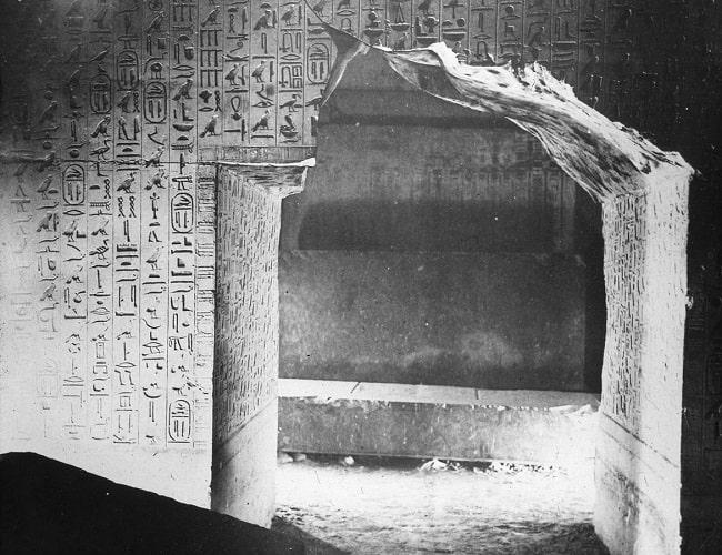 Textos de las Pirámides en el interior de la pirámide de Unas