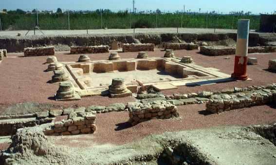 Una parte del yacimiento arqueológico de La Alcudia, donde se encontró la Dama de Elche