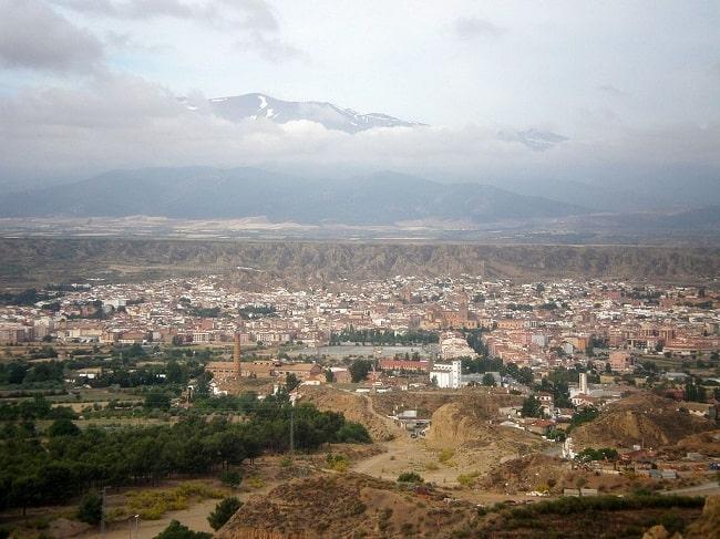 Vista panorámica de la actual ciudad de Guadix